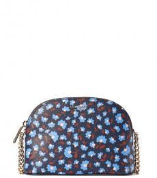 Dark Blue Spencer Party Floral Medium Crossbody Bag