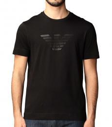 Emporio Armani Navy Blue Eagle Print T-Shirt