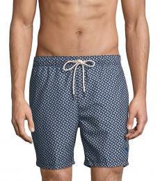 Tommy Bahama Navy Blue Naples Solid Swim Trunks
