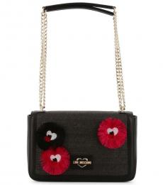 Love Moschino Black Quirky Large Shoulder Bag
