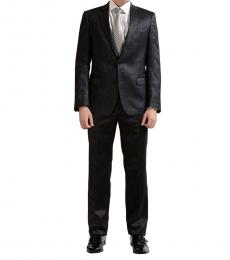 Versace Collection Charcoal Sparkling Two Button Suit