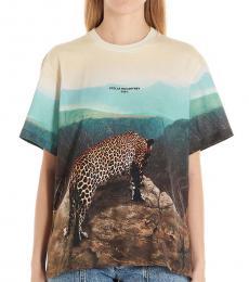 Multi color Leopard Scene T-Shirt