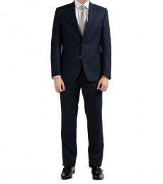 Blue Two Button Suit