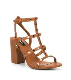 DKNY Cognac Hanz Studded Heels