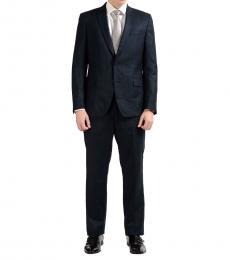 Versace Collection Grey Two Button Wool Suit