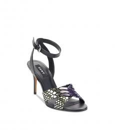 DKNY Black Ivy Snake Embossed Heels