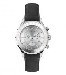 Versace Grey Chrono Logo Watch