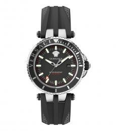 Versace Black V-Race Diver Watch