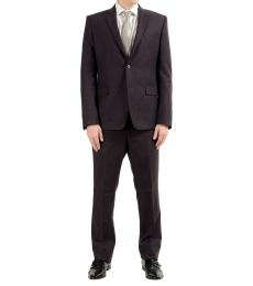 Versace Collection Burgundy Two Button Suit