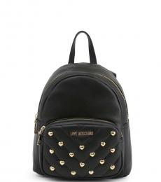 Love Moschino Black Quilted Pocket Small Backpack