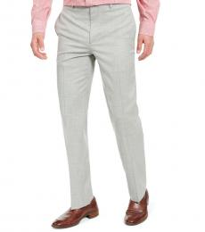Ralph Lauren Green Classic-Fit Sharkskin Dress Pants