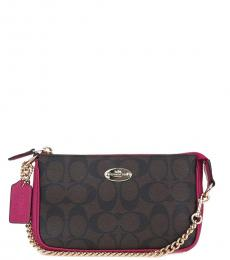 Coach Brown Signature Mini Shoulder Bag