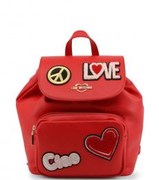 Red Patches Small Backpack