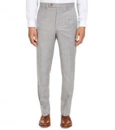 Ralph Lauren Grey Classic-Fit Sharkskin Dress Pants