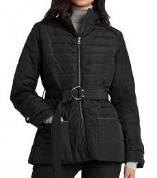 Ralph Lauren Black Belted Quilted Jacket