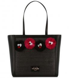 Love Moschino Black Quirky Large Tote