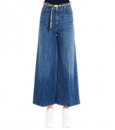Blue Logo Belt Jeans
