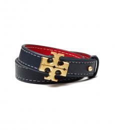 Royal Navy-Red Double-Wrap Bracelet