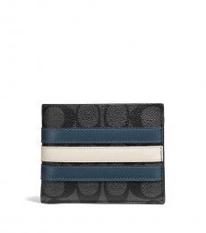 Coach Midnight Nvy-Denim 3-In-1 Wallet