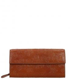 Bottega Veneta Light Brown Flap Wallet
