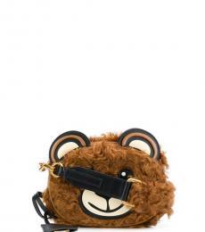Moschino Brown Teddy Mini Crossbody