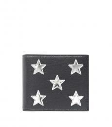 Saint Laurent Black Mirror Stars Wallet