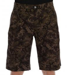 Dolce & Gabbana Black Military Pattern Shorts