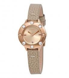 Furla Beige Club Voguish Watch