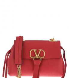 Valentino Garavani Red V Ring Large Shoulder Bag