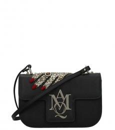 Alexander McQueen Black Insignia Embellished Small Crossbody