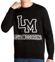 Love Moschino Black Insignia Logo Sweater