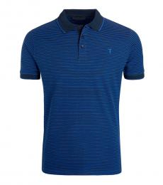 Blue Graphic Logo Polo