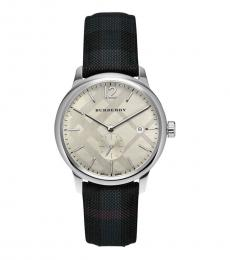 Burberry Dark Grey Fabric Strap Watch