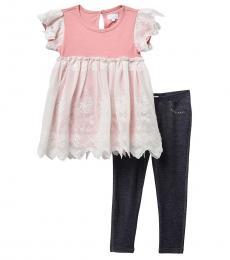 BCBGirls 2 Piece Top/Leggings Set (Little Girls)