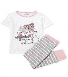 DKNY 2 PieceT-Shirt/Joggers Set (Little Girls)