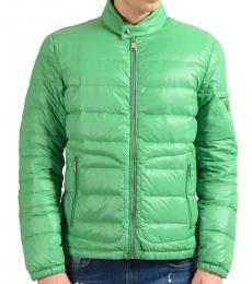 Prada Dark Green Full Zip Down Jacket