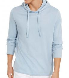 Michael Kors Breeze Blue Luxe Cotton Hoodie