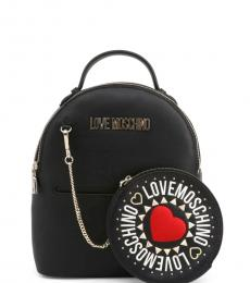 Black Round Pouch Small Backpack