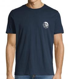 Blue Graphic Cotton T-Shirt