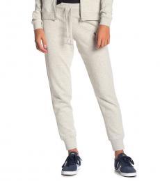 True Religion Light Grey Logo Knit Joggers