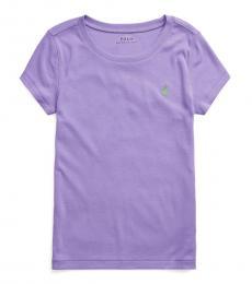Ralph Lauren Girls Hampton Purple Cotton-Modal T-Shirt