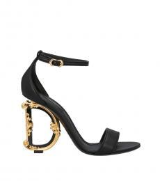 Dolce & Gabbana Black Devotion Logo Heels
