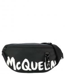 Alexander McQueen Black Bold Logo Belt Bag