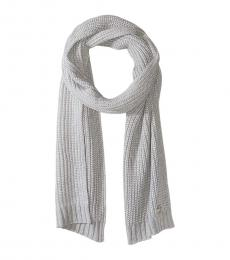 Pearl Heather Grey Shaker Scarf