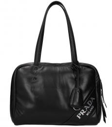 Black Logo Medium Tote