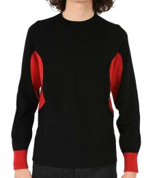 Black Slim Fit Crewneck Sweater
