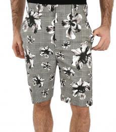 Neil Barrett Grey Floral Bermuda Shorts