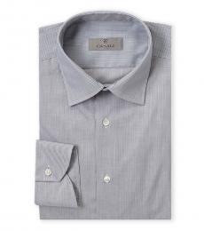 Canali Grey Modern Fit Dress Shirt