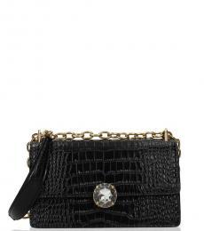 Miu Miu Black Crystal Small Shoulder Bag