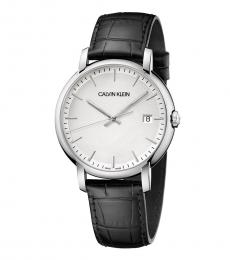 Calvin Klein Black Silver Dial Watch